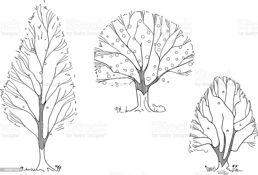 Tree compilation royalty-free stock vector art