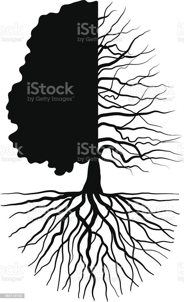 Tree concept vector art illustration