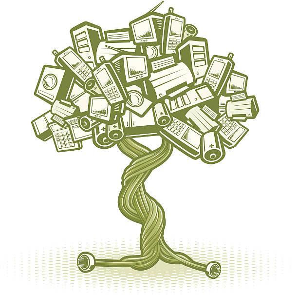 Weee Tree Concept Stock Vector Art More Images Of Battery