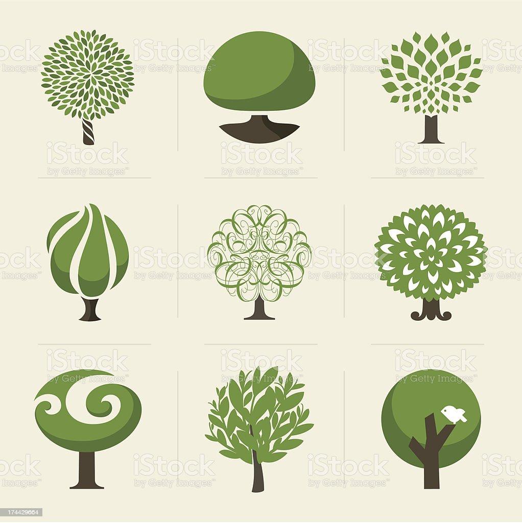 Tree. Design elements vector art illustration