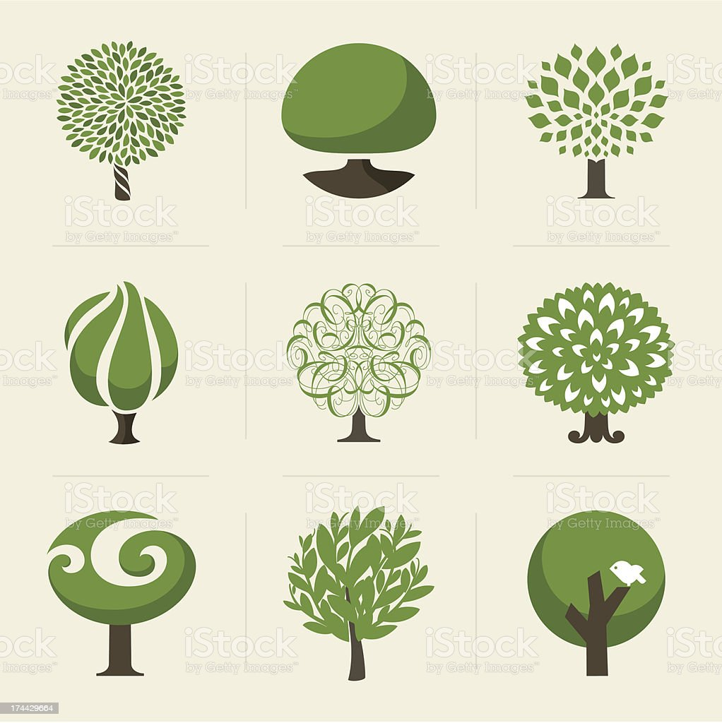 Tree. Design elements vector art illustration
