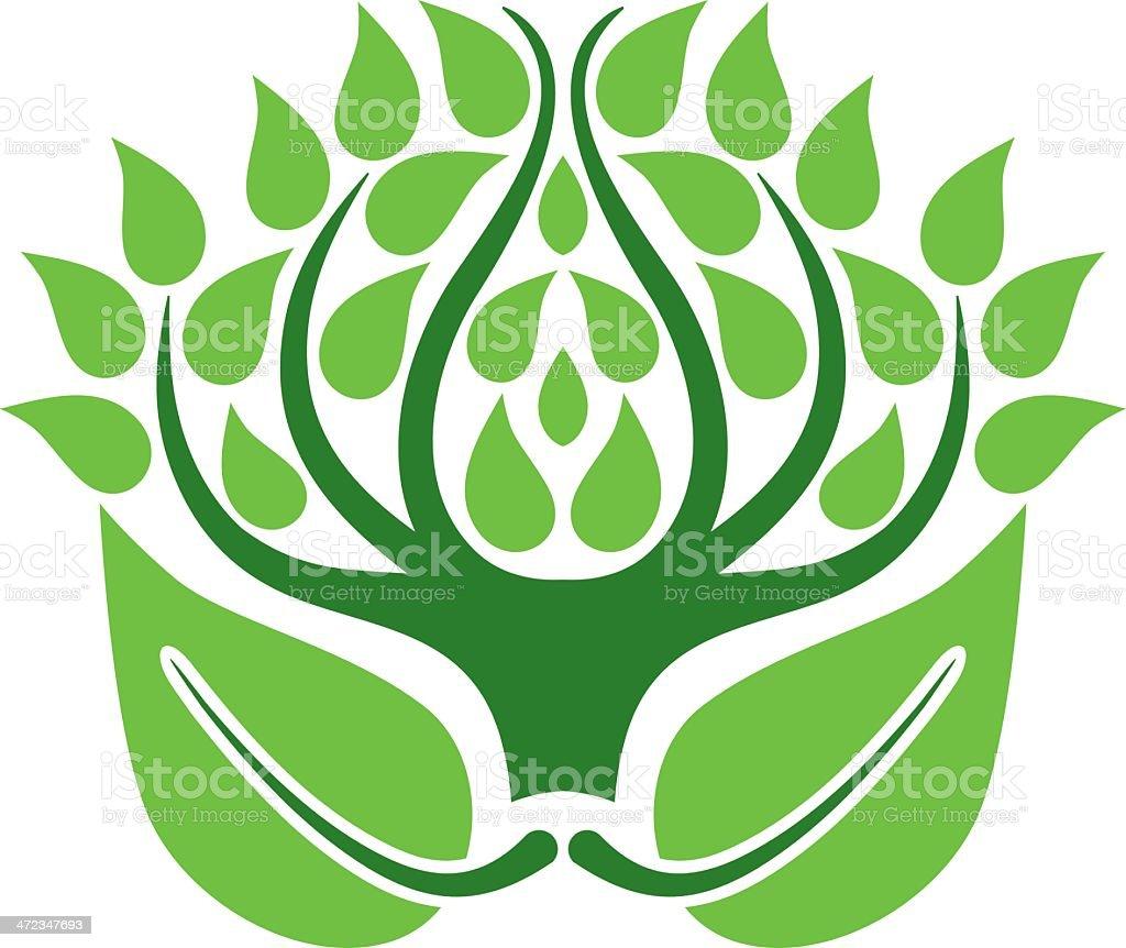 Tree emblem royalty-free stock vector art