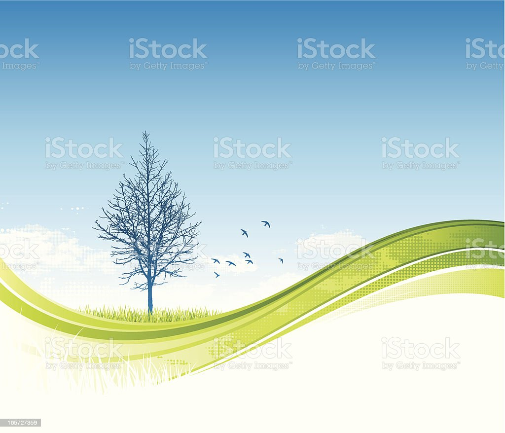 Tree flow background royalty-free stock vector art