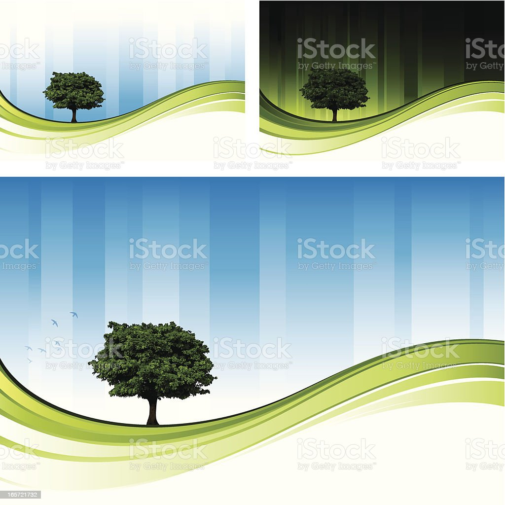 Tree flow designs royalty-free stock vector art