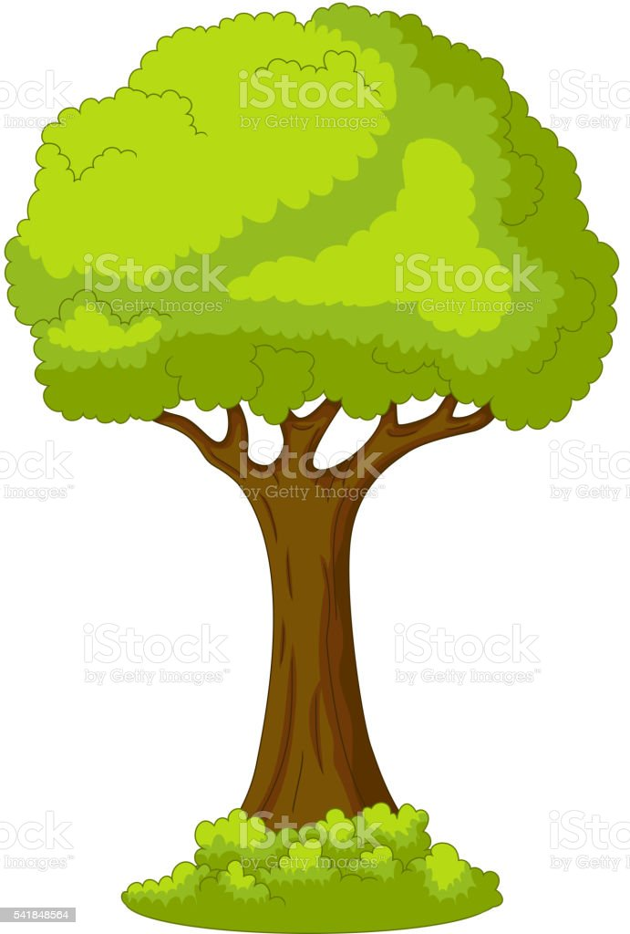 tree for you design vector art illustration