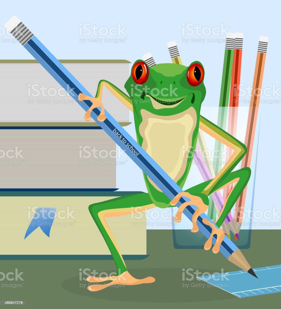 Tree frog pupil vector art illustration