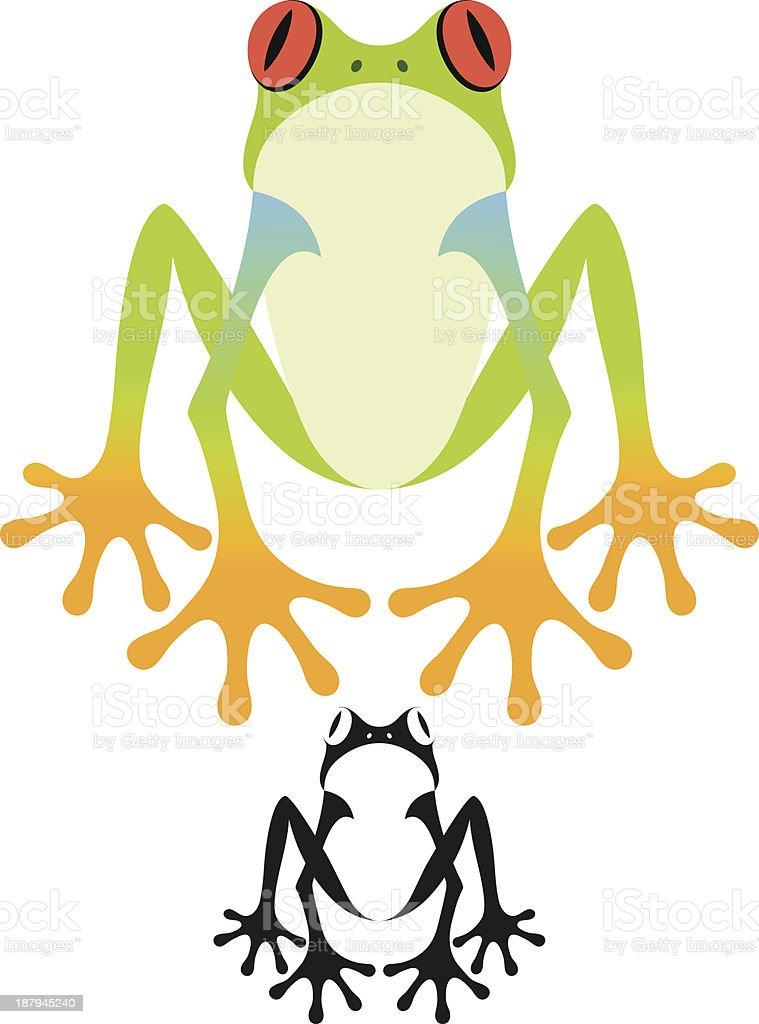 Tree Frog vector art illustration