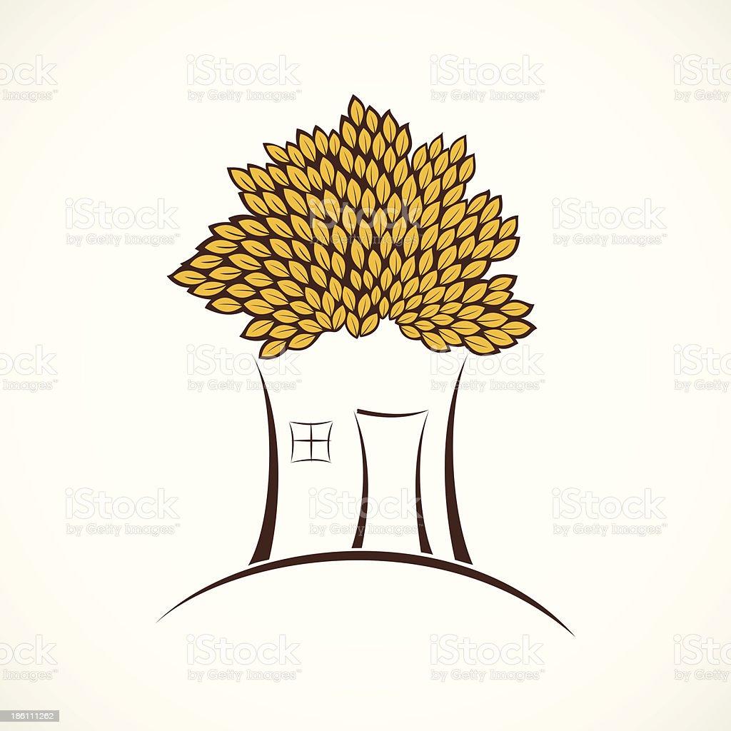 tree house royalty-free stock vector art