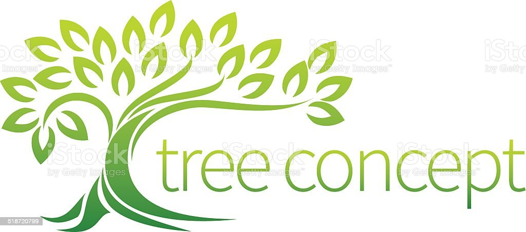 Tree icon concept vector art illustration