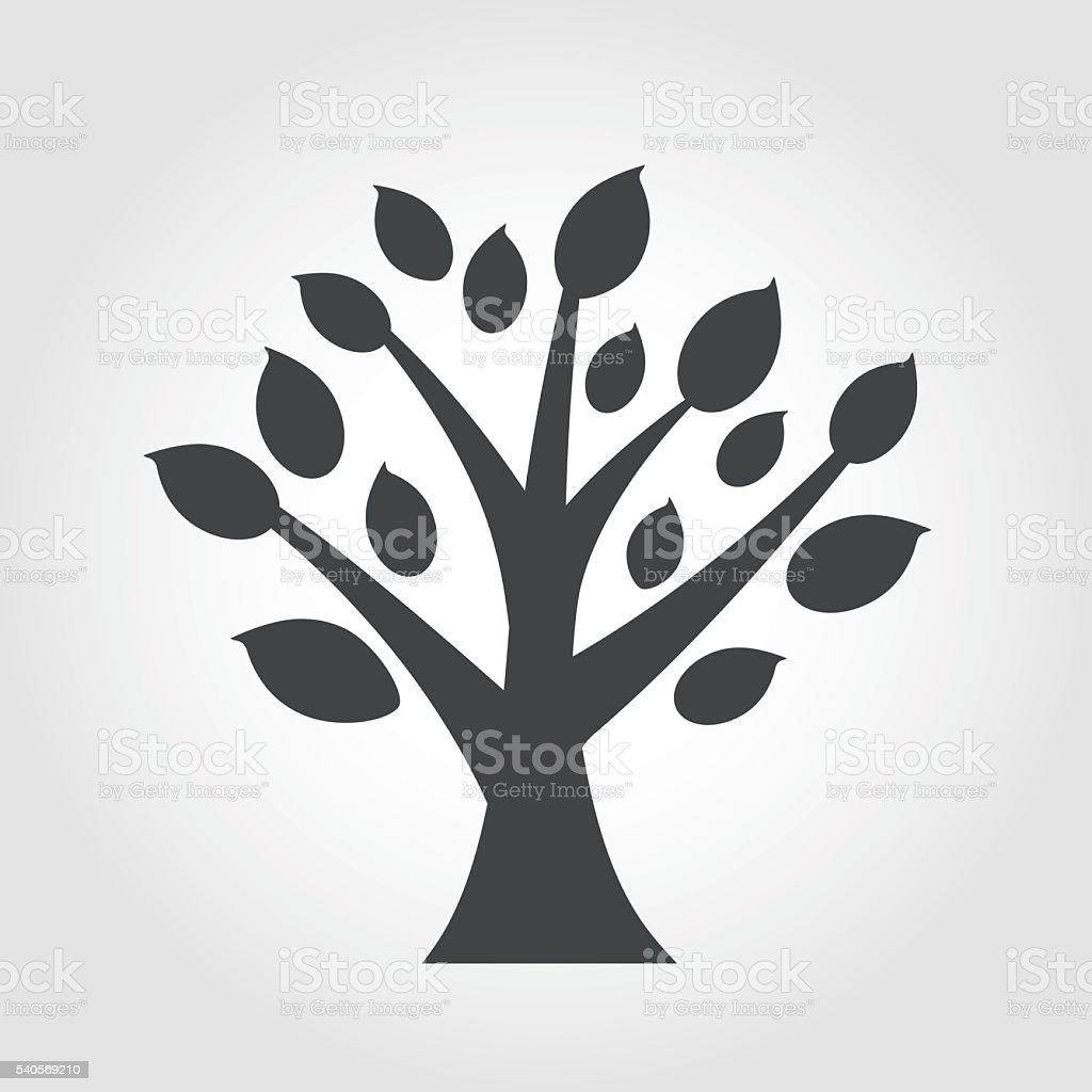 Tree Icon - Iconic Series vector art illustration