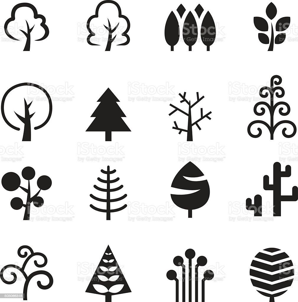Tree icon vector art illustration