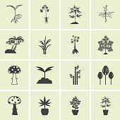 Tree icons vector set.
