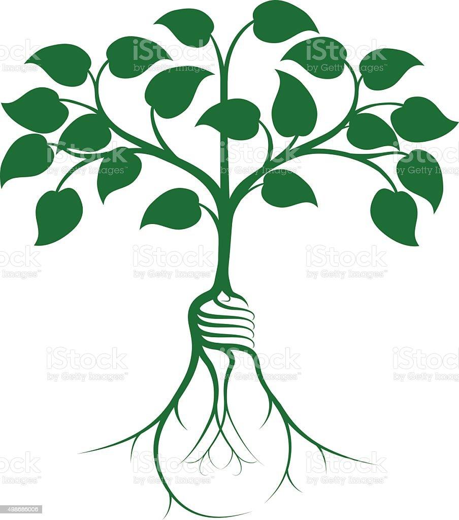 Tree idea concept vector art illustration