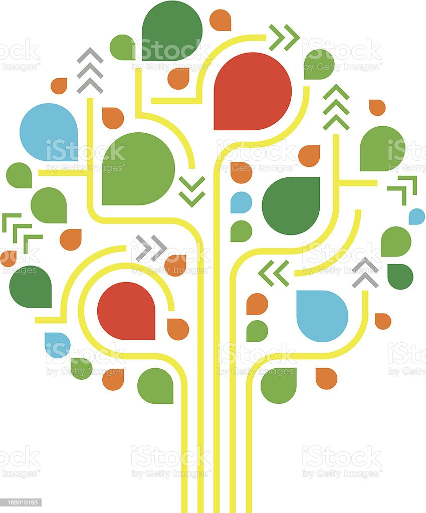 Tree illustration royalty-free stock vector art