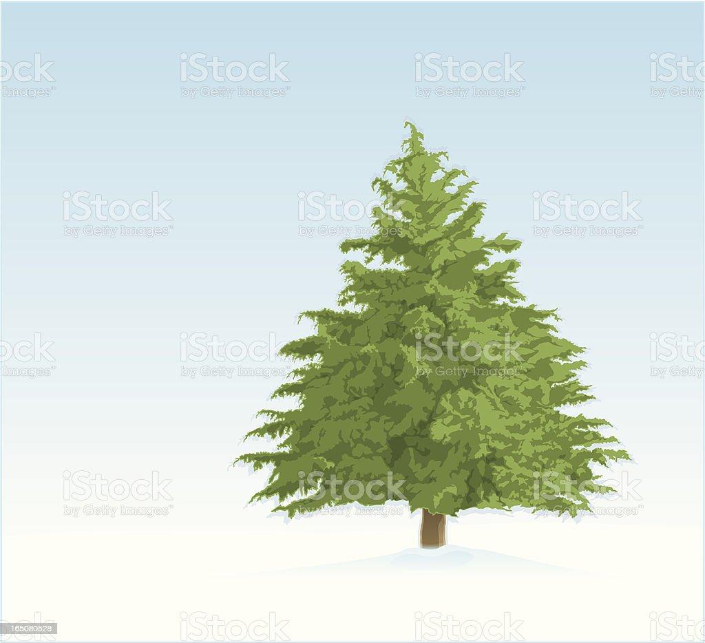 Tree In Snow royalty-free stock vector art