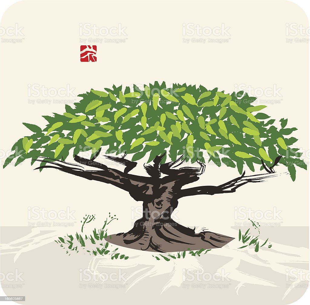Tree in the Landscape royalty-free stock vector art