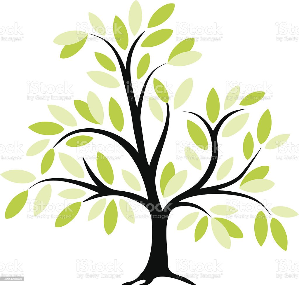 Tree IX royalty-free stock vector art