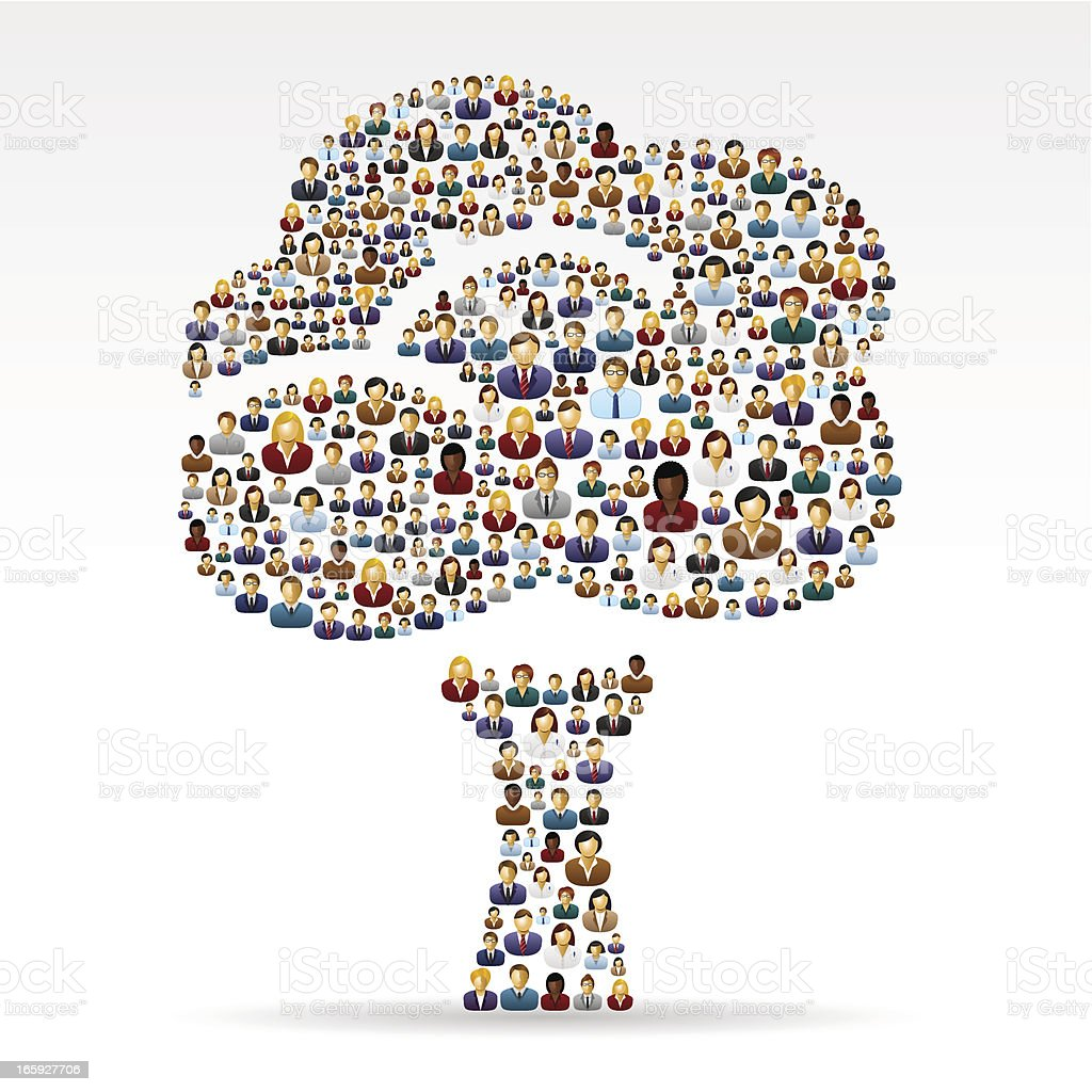Tree made of business people royalty-free stock vector art