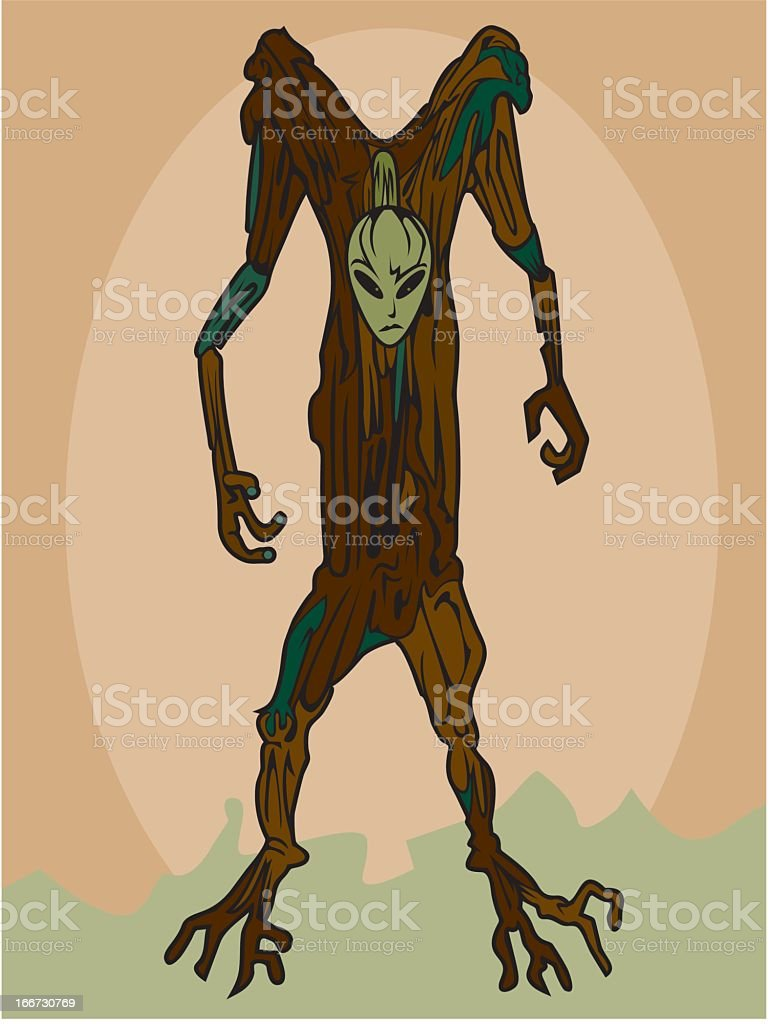 Tree Man royalty-free stock vector art