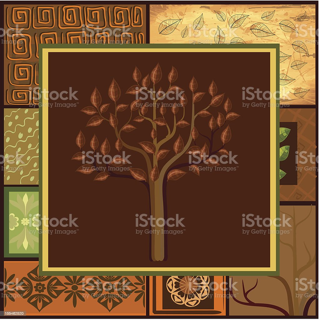 Tree Mix African backgrounds royalty-free stock vector art