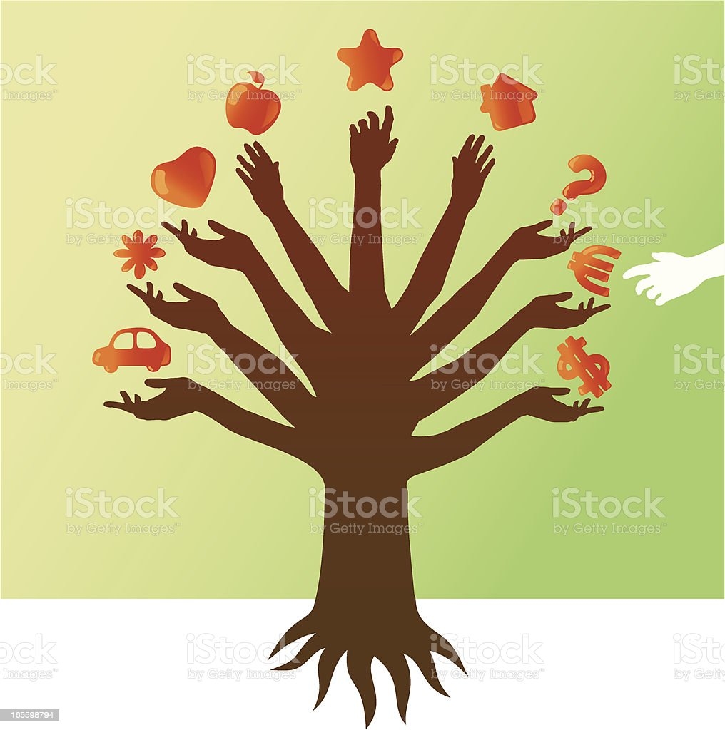 Tree of Desires vector art illustration