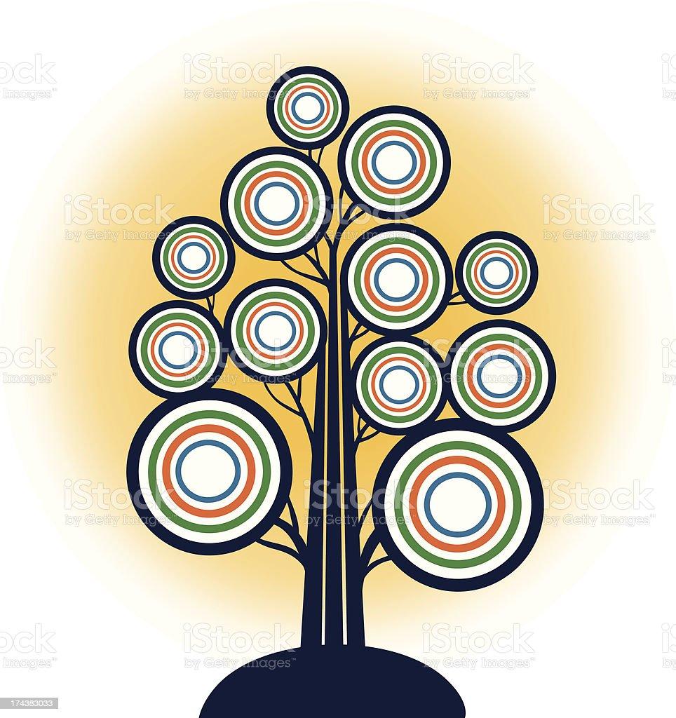 Tree of Eternal Life royalty-free stock vector art