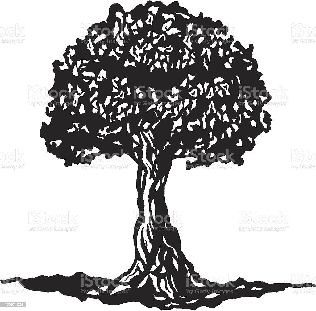 Tree of Knowledge vector art illustration