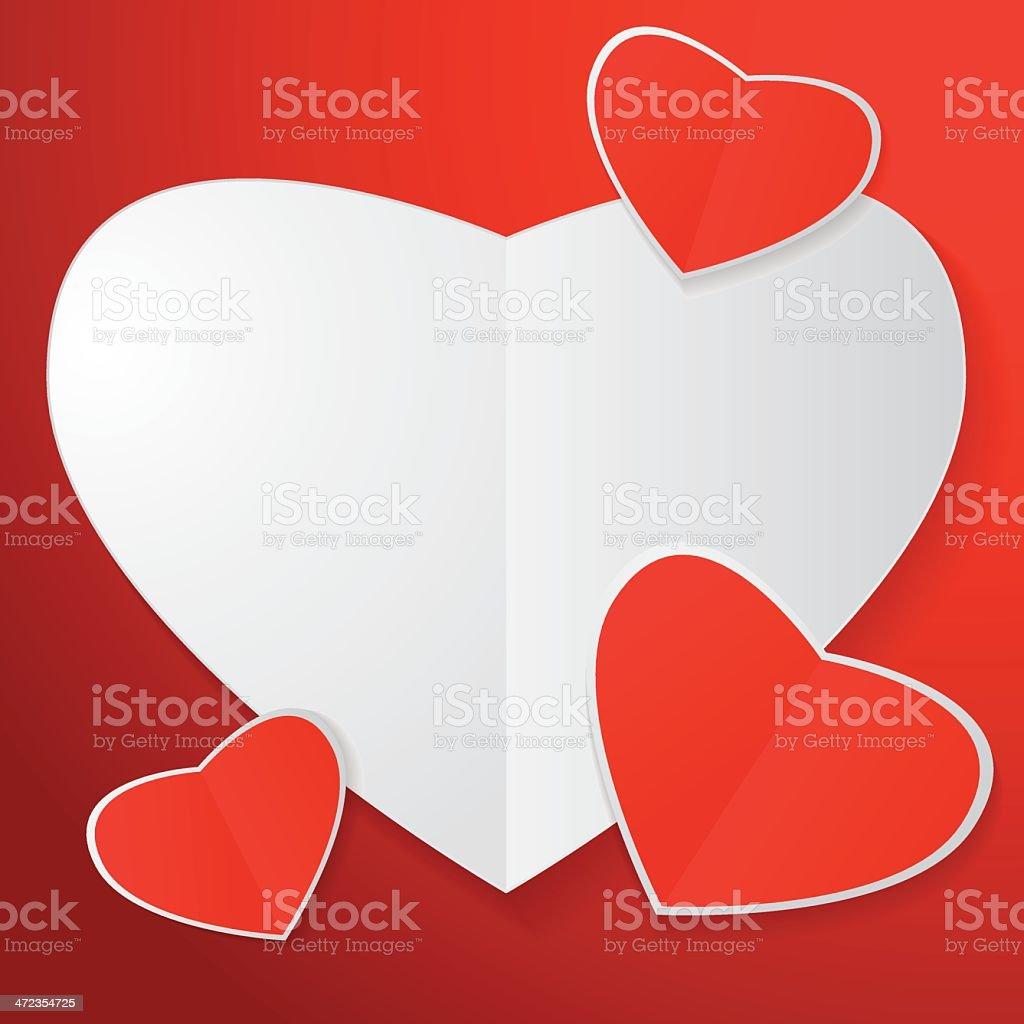 tree of Paper Heart royalty-free stock vector art