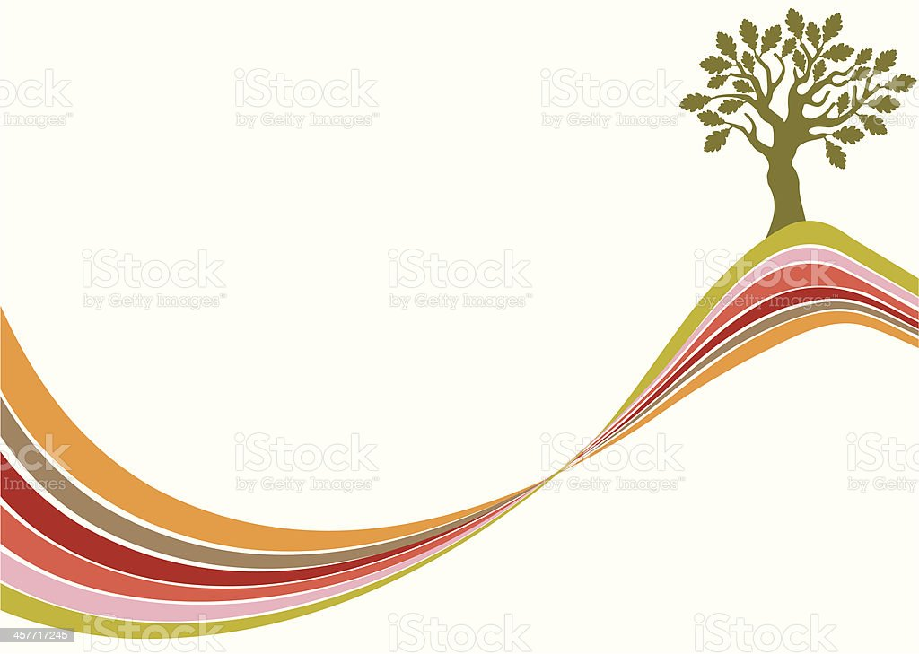Tree on the top royalty-free stock vector art