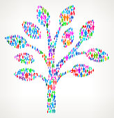 Tree on vector family pattern Background