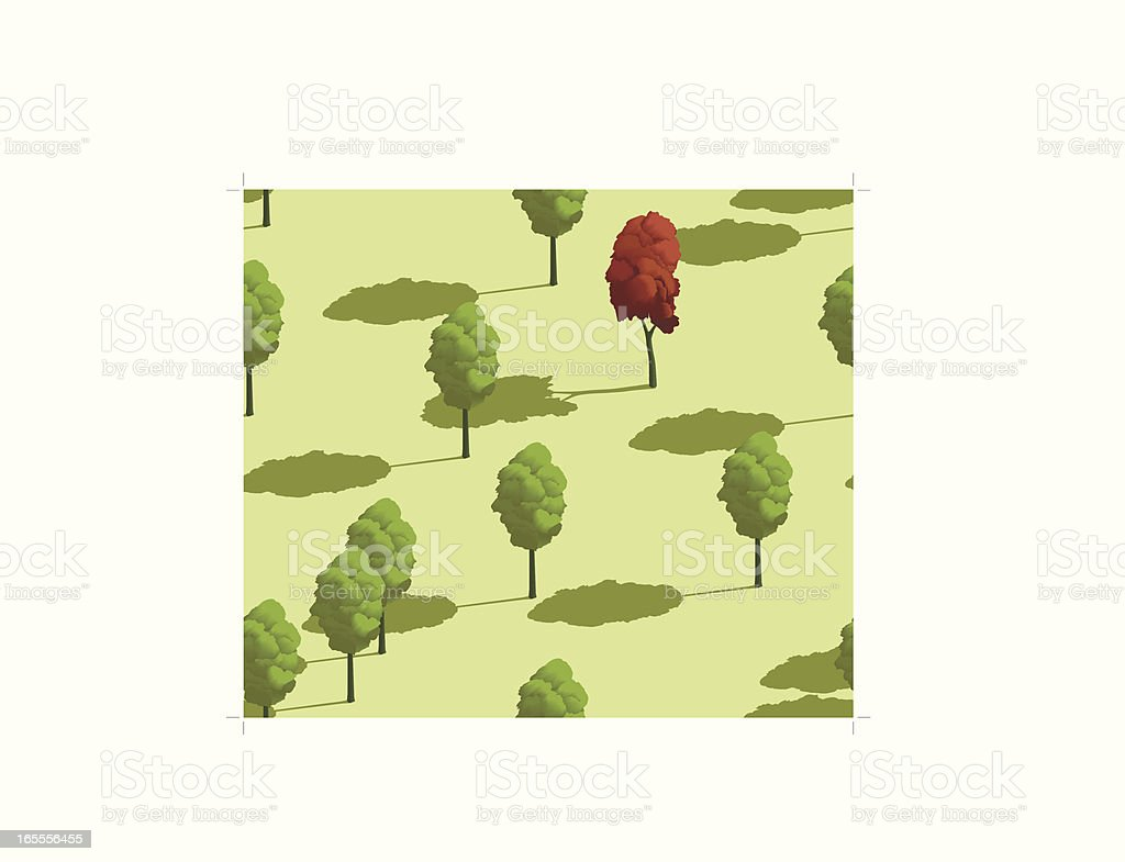 Tree pattern with summer scene royalty-free stock vector art