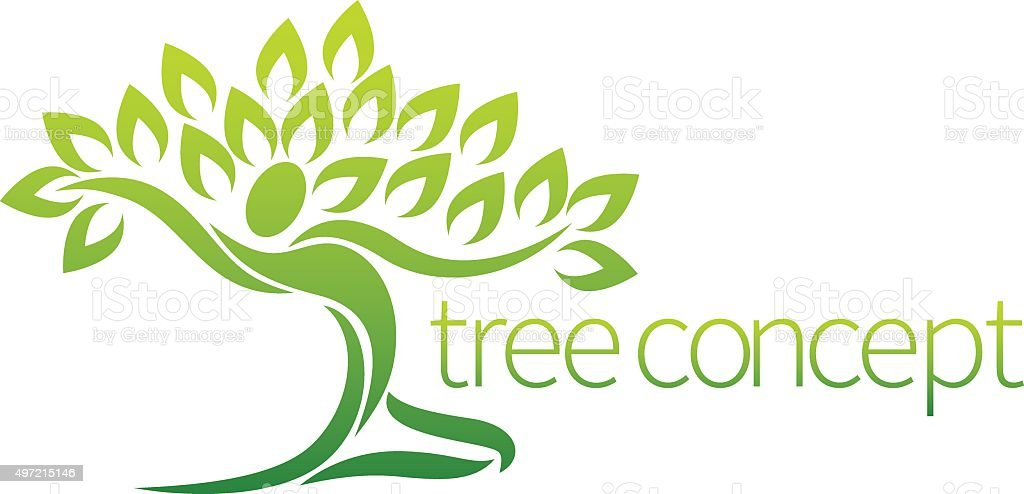 Tree Person Concept vector art illustration