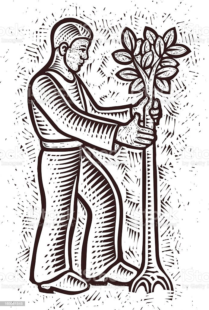 tree planter royalty-free stock vector art