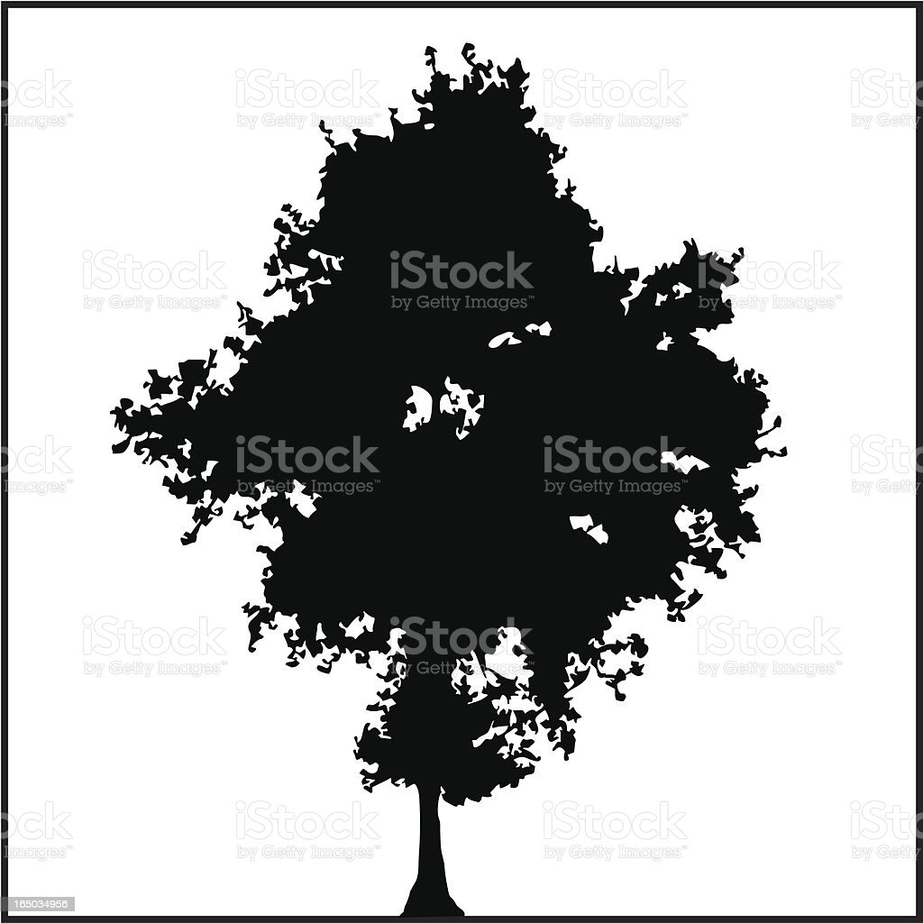 Tree Silhouette 01 vector art illustration