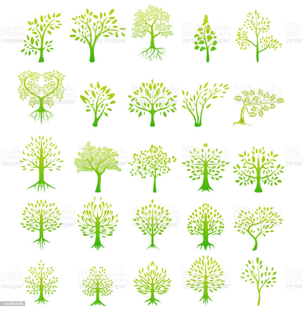 tree silhouette life background vector art illustration