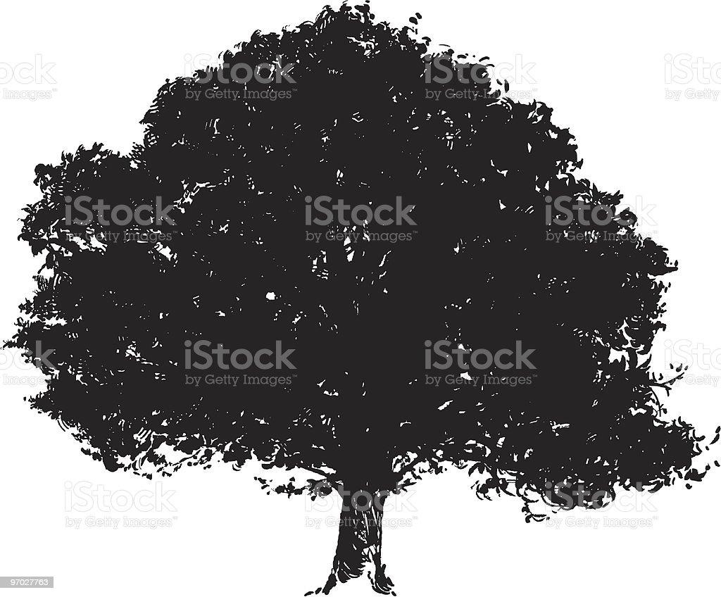 Tree Silhouette Vector vector art illustration
