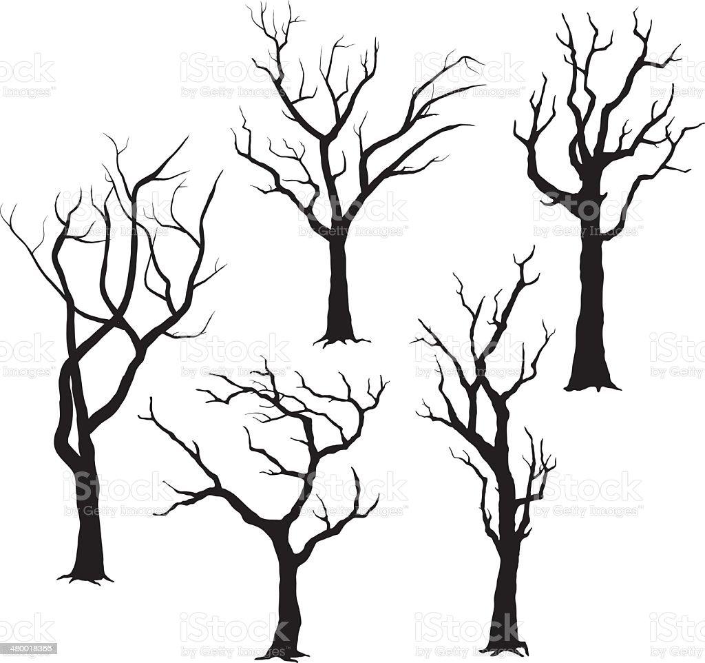 Tree Silhouettes- Illustration vector art illustration