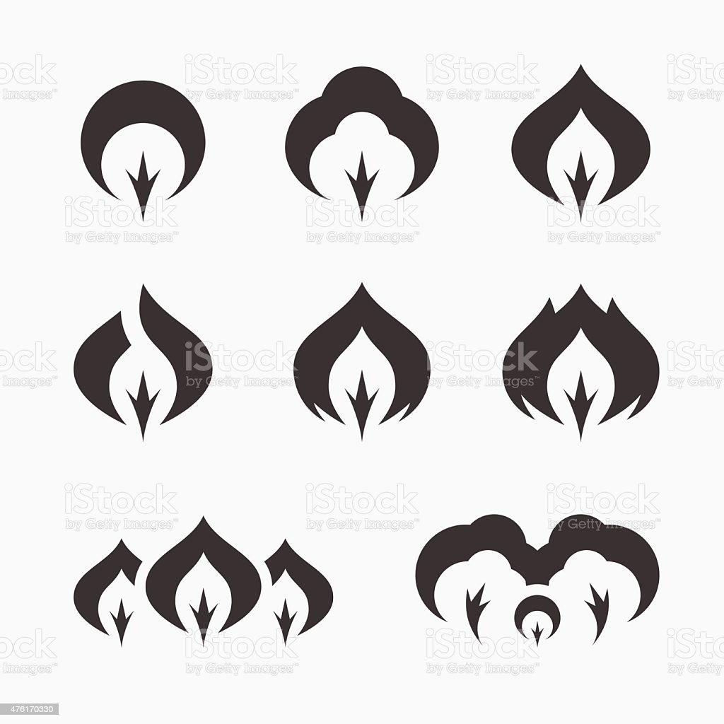 Tree simple vector logo set vector art illustration