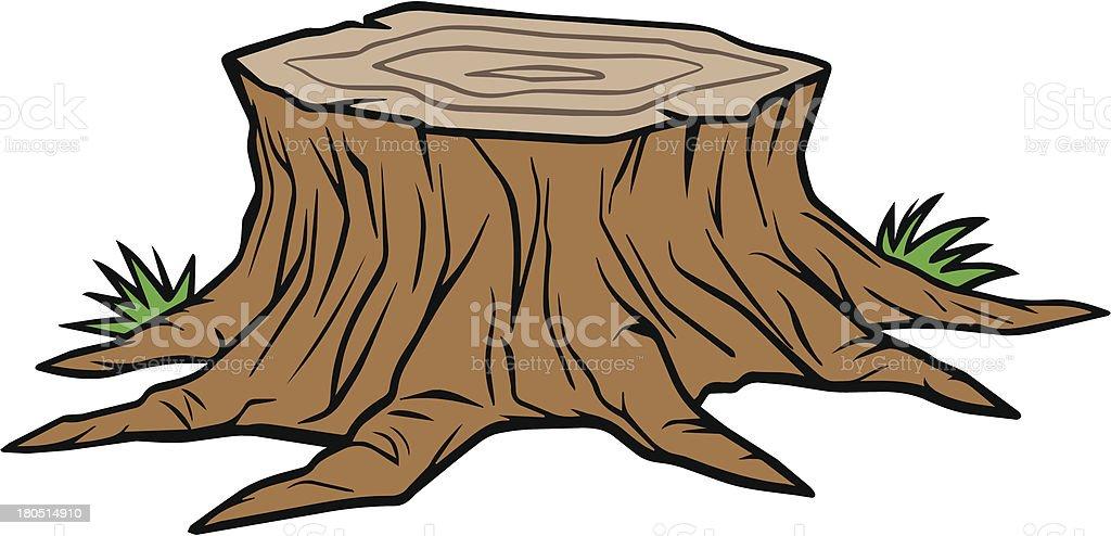 Tree Stump Removal vector art illustration