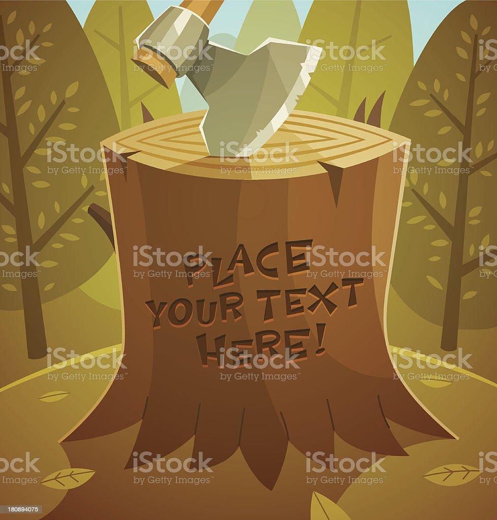 Tree stump. Vector illustration. royalty-free stock vector art