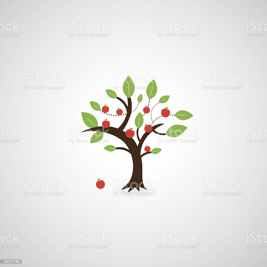 tree symbol vector art illustration