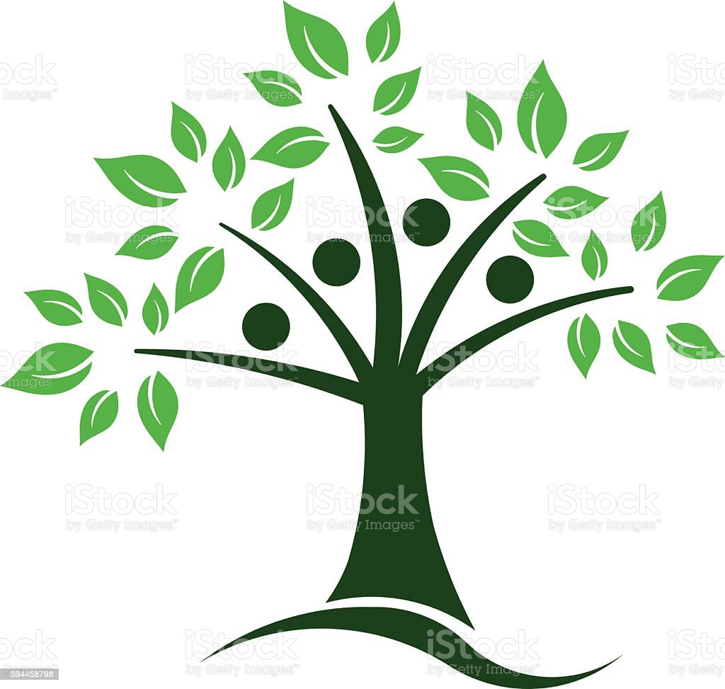 Tree Teamwork People Group. Vector Illustration vector art illustration