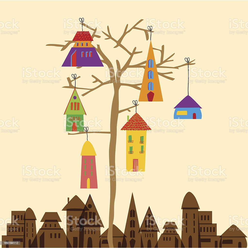 Tree town royalty-free stock vector art