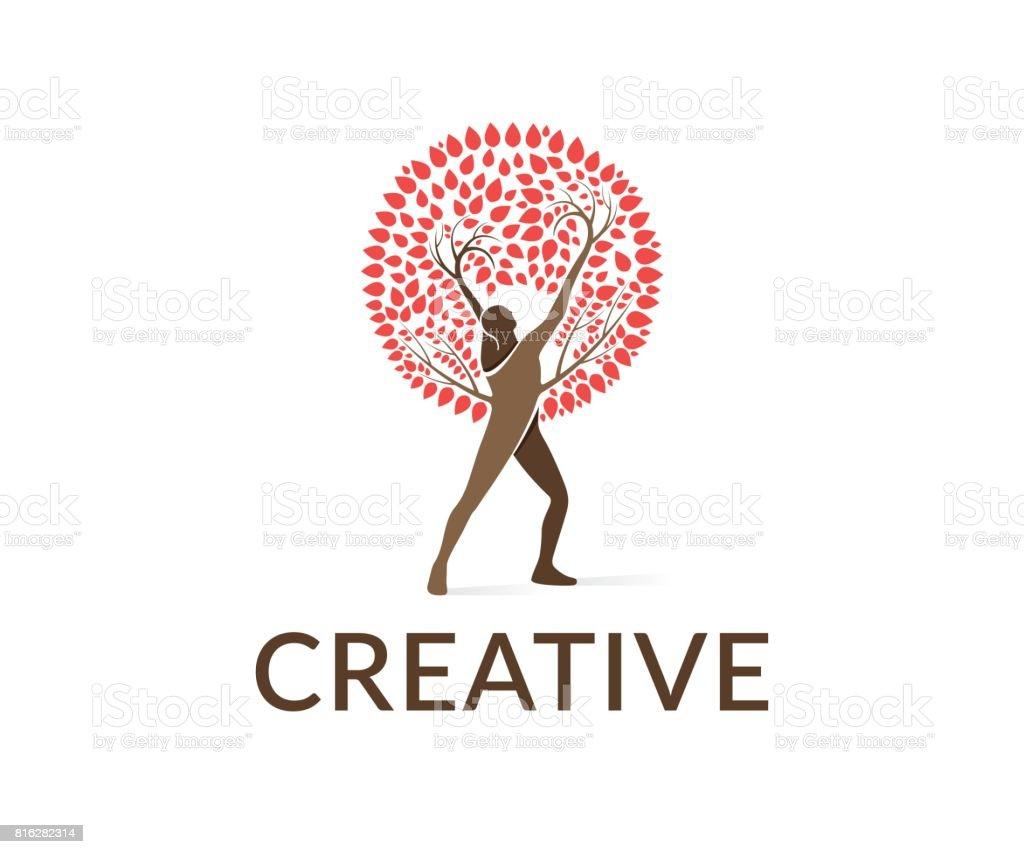 Tree vector icon vector art illustration