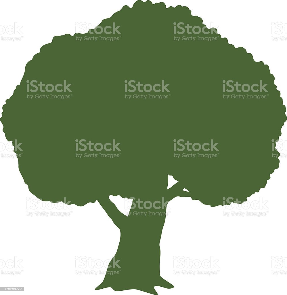 Tree (Silhouette) royalty-free stock vector art