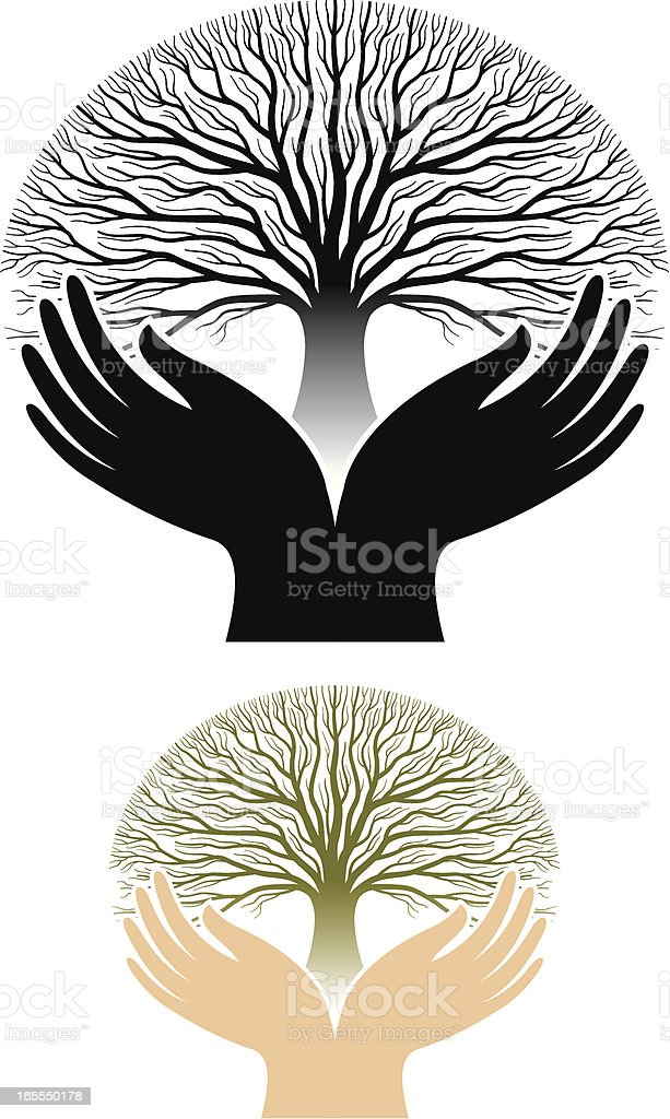 Tree worship royalty-free stock vector art