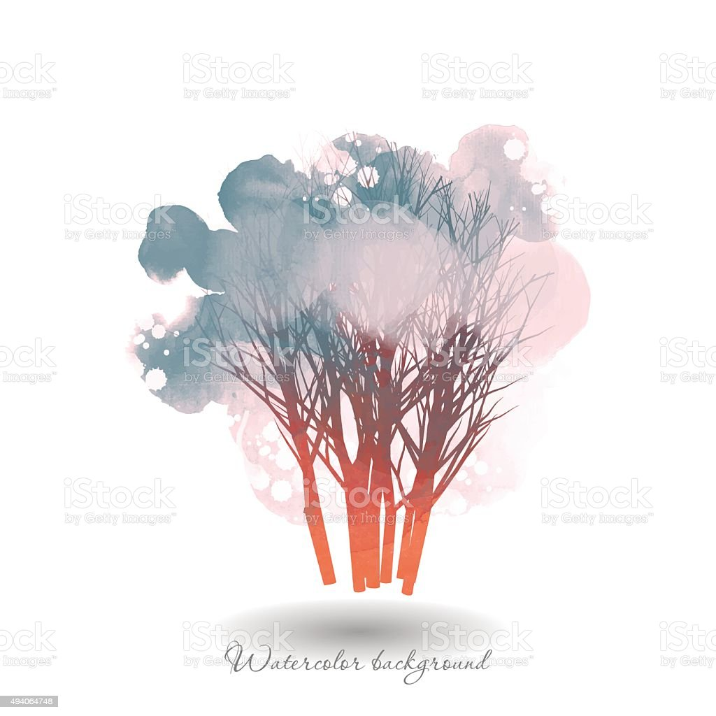 Tree8 vector art illustration