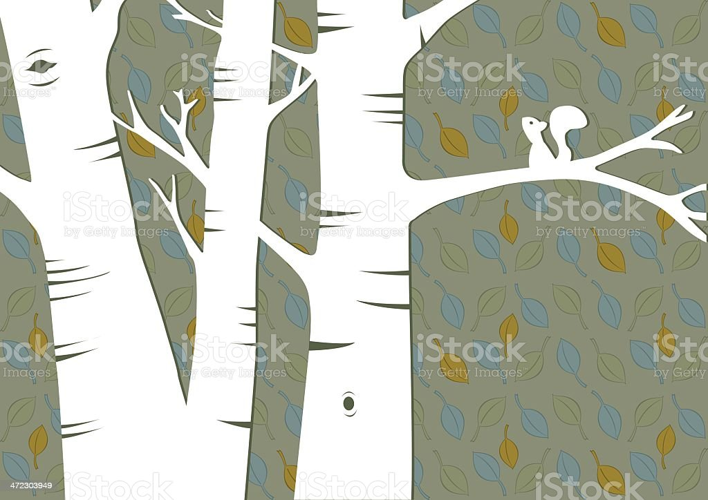 Trees and Leaves royalty-free stock vector art