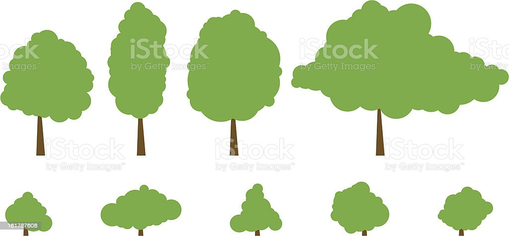 Trees and Shrubs royalty-free stock vector art