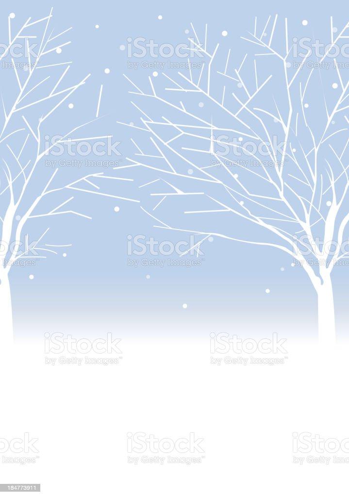 Trees in winter vector art illustration